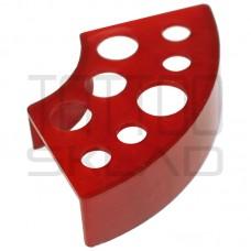 Подставка под колпачки пластиковая красная