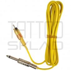Тату клипкорд силиконовый RCA Yellow