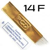 Игла для микроблейдинга 14F Gold