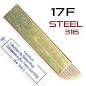 Игла для микроблейдинга 17F Steel 316