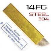 Игла для микроблейдинга 14FG Steel 304