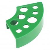 Подставка под колпачки пластиковая зеленая